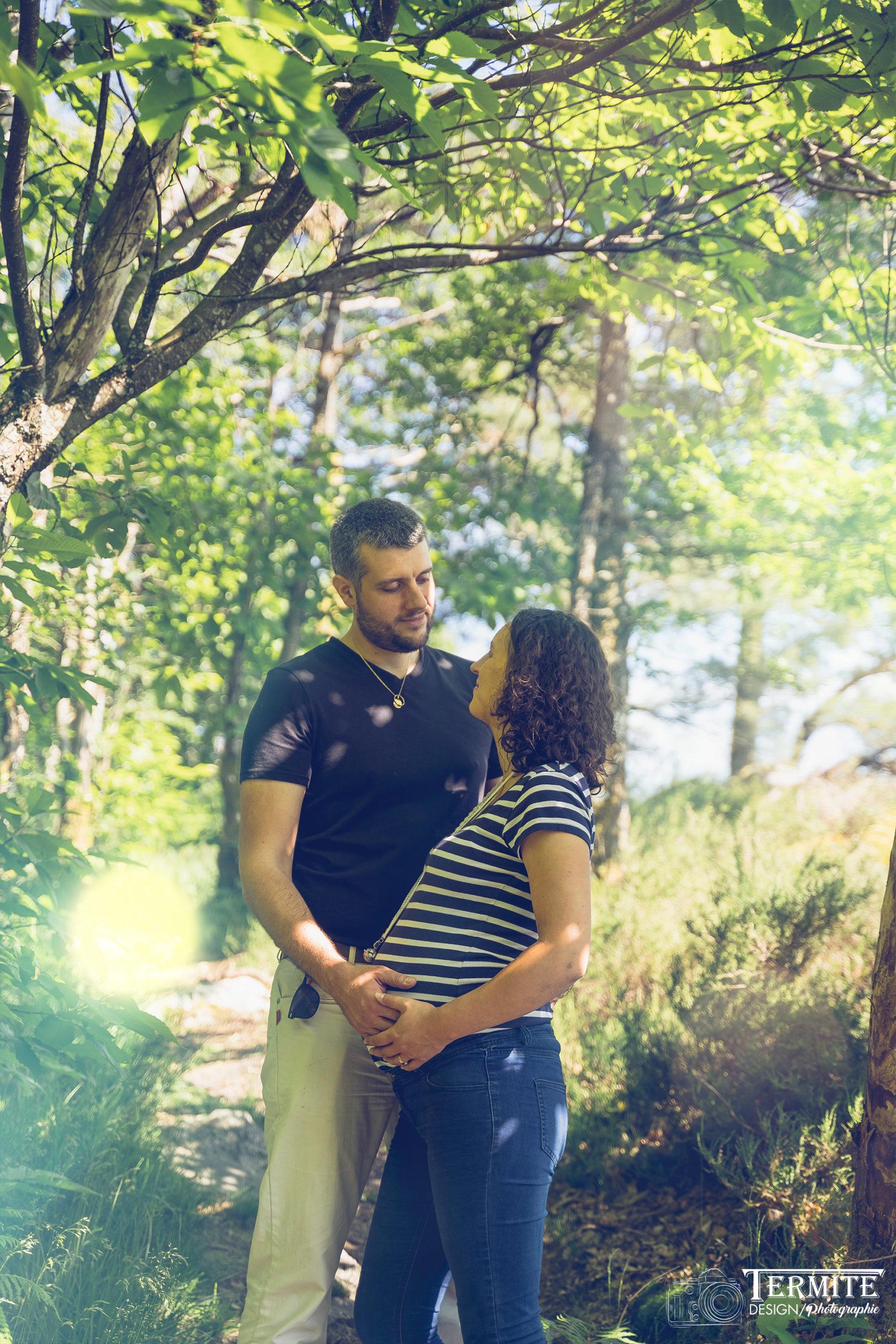 Couple séance grossesse