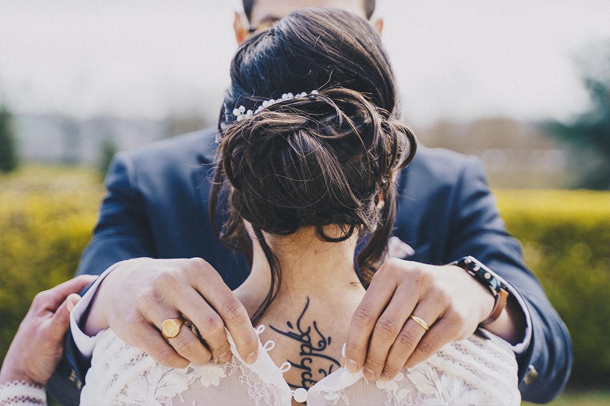Photo mariage tatouage